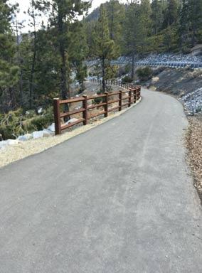 Bike Trail north side of Lake Tahoe Nevada