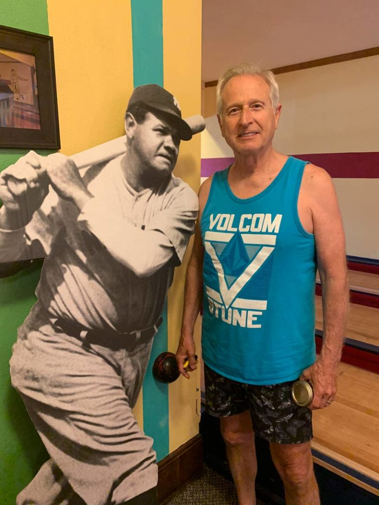 John with fellow duck pin bowling great Babe Ruth