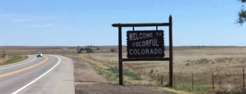 Colorado welcome sign