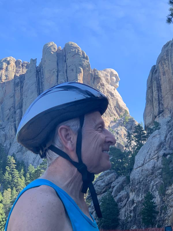 John's profile below George Washington's at Mt. Rushmore