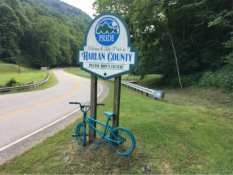 Harlan County Kentucky welcome sign