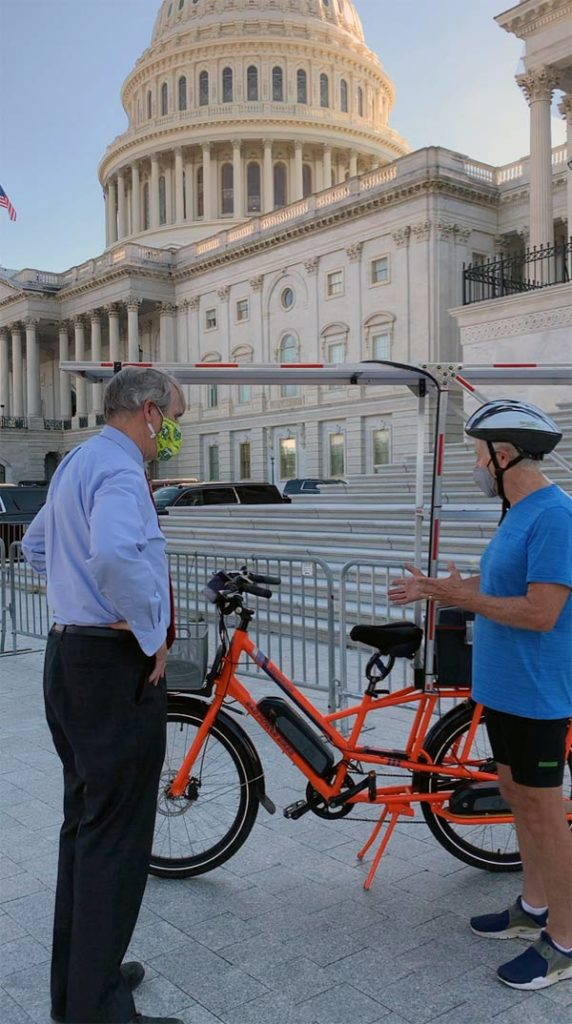 Talking with Senator Jeff Merkley from Oregon about Sunride.