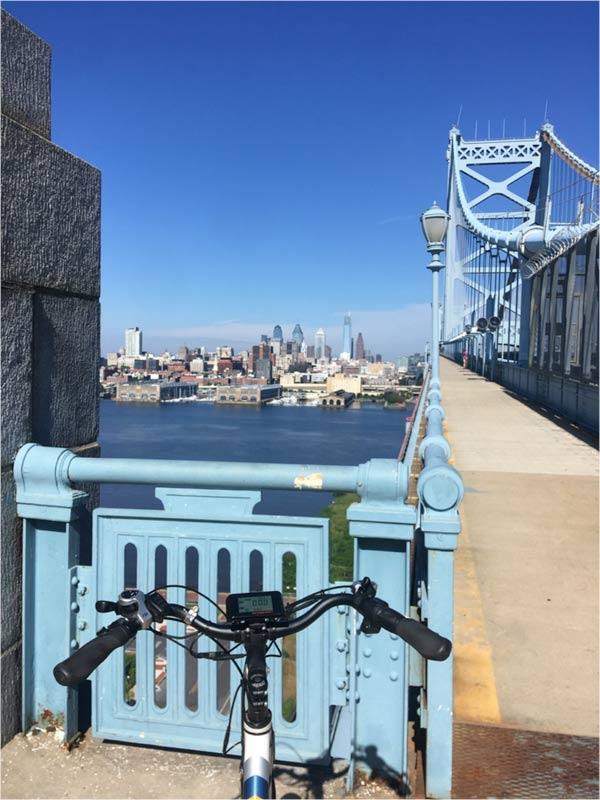 Sunride enjoys the view of downtown Philadelphia