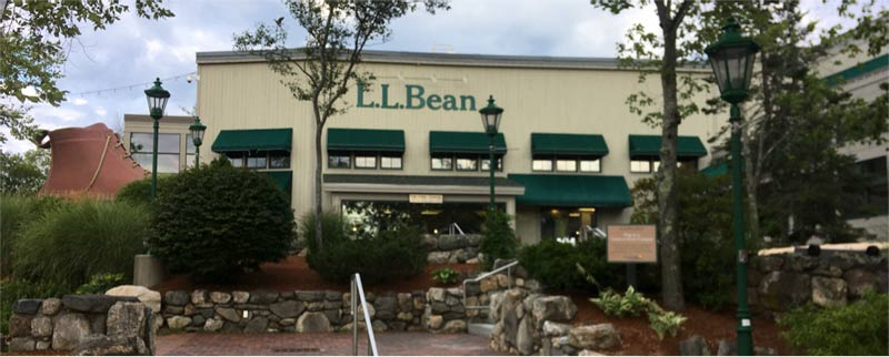 Sunride passes the famous L.L. Bean headquarters on Highway 1 in Freeport, Maine