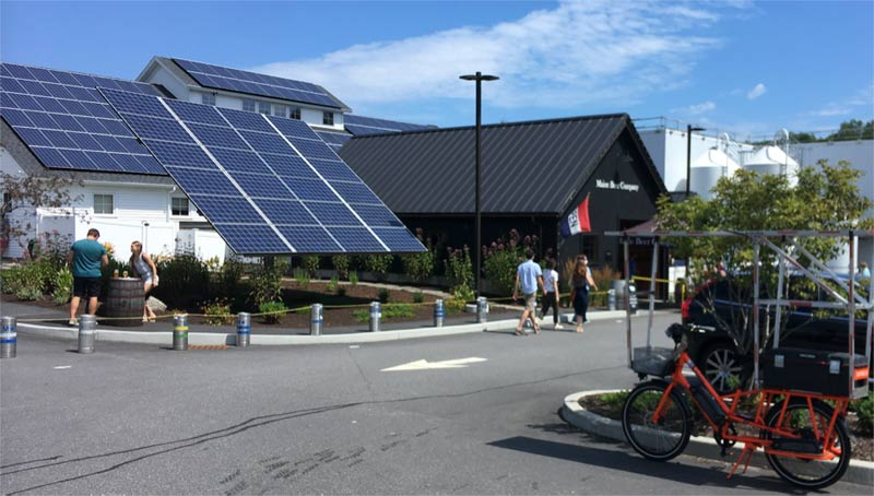 Sunride salutes the Maine Brewing Company for their strong solar commitment and great beer!