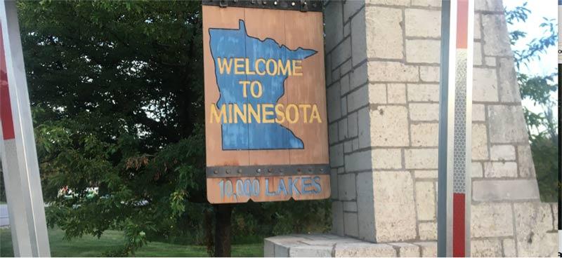Minnesota Welcome Sign