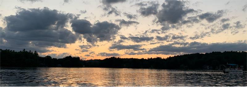 Lake sunset Mystic, Connecticut