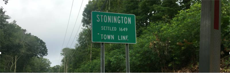 Stonington, Connecticut sign