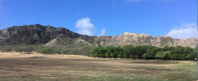 Inside the volcano: Diamond Head from the floor of the crater
